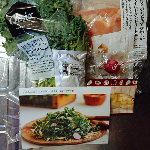 オイシックスおためしセット:マイルドタンドリーチキン + ケールのチーズナッツサラダ